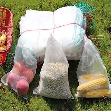 20Pcs White Nylon Mesh Drawstring Bag Aquarium Filter Media Net Bags 15x10cm