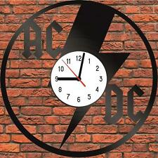 AC/DC music Vinyl LP Wall Clock Art Design Handmade