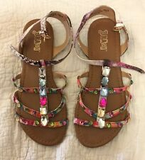 BLING SANDALS SHOES SZ 8.5 MULTI STONE COLOR Payless Brand Beautiful