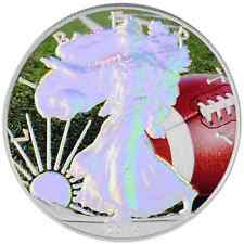 2014 American Silver Eagle Coin 1 Oz Ounce Football Eagle 999 Holographic