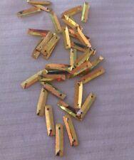 Sequins Gold Soft Laser Baguette Toblerone Rectangle 14mm Metallic Hard To Find