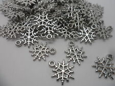 100 Snow Flake~ Acrylic,Frozen Snowflake Charm Pendants/Beads~Jewellery  making