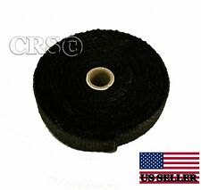 BLACK FIBERGLASS MOTORCYCLE EXHAUST PIPE THERMO WRAP TAPE HARLEY CHOPPER B125