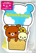 San-x Rilakkuma Die-Cut Kawaii Envelope Set w/ Stickers: Sky