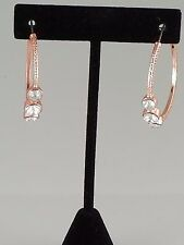 Rose Gold and Crystal FASHION Hoop Earrings