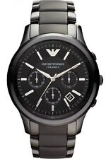 ** NEW **Emporio Armani® watch AR1452 Mens Black Ceramica