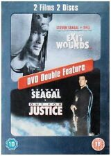 EXIT WOUNDS & OUT FOR JUSTICE 2 DISC BOXSET STEVEN SEAGAL WARNER UK R2 DVD L NEW