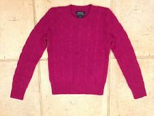 Girl Ralph Lauren Sweater Dark Pink  Size S 7 years NEW RRP £240