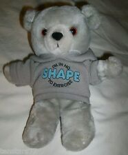 "Vintage 1986 APPLAUSE Hoodie TEDDY BEAR I'm In No Shape To Exercise Korea 9"" EUC"