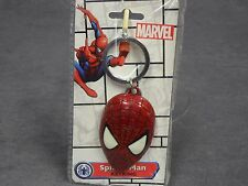 Spider-Man Head Face Colored Pewter Keychain Key Chain Clip New Marvel Comics