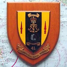 Old Oak 41 Commando Royal Marines Regiment Regimental Oak Crest Shield Plaque