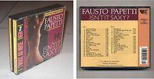 2 Cd FAUSTO PAPETTI Isn't it saxy - MCR 1988 Box doppio Sax Twice as Nice