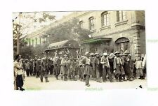 OLD POSTCARD CHINESE FUNERAL IN TIENTSIN CHINA REAL PHOTO VINTAGE C.1920