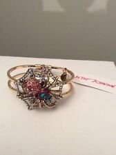 Betsey Johnson Spider Lux Collection Spider Bracelet $65 Holiday Sale S-2