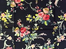 RPG334A Shabby English Garden Rose Bouquet Country Floral Cotton Quilt Fabric