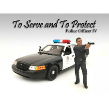 POLICE OFFICER IV FIGURE FOR 1:24 SCALE MODELS BY AMERICAN DIORAMA 24034