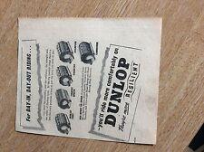 q2-2 ephemera 1950s advert dunlop tyres resilient