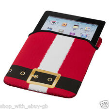 Christmas Santa iPad Tablet Cover Case Sleeve Pouch Xmas Neoprene Gift Stocking