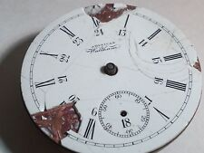 American Waltham pocket watch movement and dial, for parts only. vintage, old. n