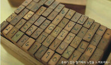 70 PCS Of Wooden AlPhaBet Digital And Letters Seal Stamps Cursive Handwritten