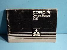 85 1985 Mitsubishi Cordia owners manual