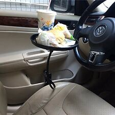 NEW Car Auto Mount Holder For Food & Beverage Stand Tray, Clip Table (Black)