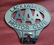 047 AAA Car Club Badge Lackawanna PA State Vintage Pressed Metal Mercury VW Ford
