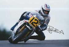 Roger Burnett Hand Signed Photo 12x8 Rothmans Honda MotoGP.