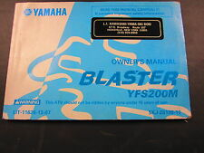 Yamaha Blaster YFS200 Owners Manual LIT-11626-14-09 Used