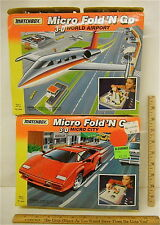Matchbox Micro Fold'n Go World Airport & Micro City 3D Travel Playset Unused