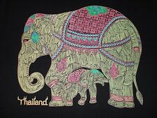 Elephant Made In Thailand Colorful 2 Sided T Shirt Size M Animal Nature Asia
