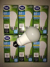 6 PACK LED 60W = 10W Soft White Dimmable 60 Watt Equivalent A19 2700K SweetHome