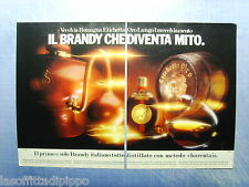 QUATTROR984-PUBBLICITA'/ADVERTISING-1984- VECCHIA ROMAGNA ETICHETTA ORO -2 fogli