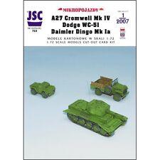 JSC 722 - A26 Cromwell Mk IV, Dodge WC-51, Daimler Dingo Mk Ia   1:72