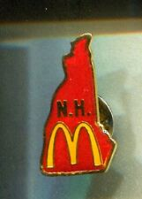 RARE PINS PIN'S .. MC DONALD'S RESTAURANT CARTE MAP NEW HAMPSHIRE N.H USA  ~16