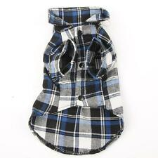 Puppy Cat Pet Plaid T-Shirt Cloth Outfit Coat Summer/Winter