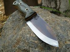 NEW! KRF 0-1 Custom Bushcraft / Survival / Camping Knife  O.D Green USA Made