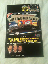 Dale Earnhardt, Dale Earnhardt Jr. & Steve Park Nabisco Store Display Poster