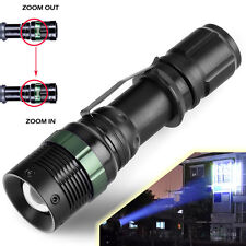 5000 Lumen XM-L T6 Zoomable Tactical Focusing LED Flashlight Torch Camping Lamp