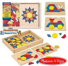 Melissa doug en bois motif bloc conseils forme géométrique montessori early learning