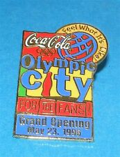 ATLANTA 1996 Olympic Collectible Sponsor Pin - Coca-Cola Olympic City Opening