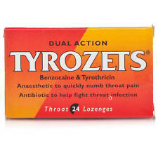 3 X Tyrozets Lozenges Dual Action For Sore Throat Antiseptic Anaesthetic - 24