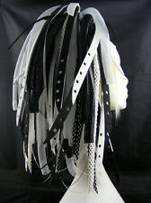 CYBERLOXSHOP BLACKBLEACH CYBERLOX CYBER HAIR FALLS DREADS GOTH RAVE BLACK WHITE