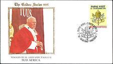1995 VATICANO FDC GOLDEN SERIES 23K - GIOVANNI PAOLO II SUD AFRICA - PRETORIA