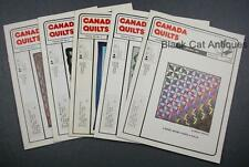 Lot of Five Canada Quilts Magazines 1984 Issues 52 To 56 Vol. XIII No 1 2 3 4 5