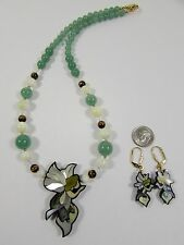 Lee Sands Fairy Necklace & Earring Set  Handmade Hawaii LS stamped