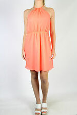 ZARA TRF Fluro Halter Dress Size M (10-12)