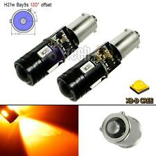 2x Amber High Power Canbus Error Free 120° Bay9s H21W 64136 CREE LED Light Bulbs