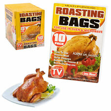 10 X LARGE ROASTING BAGS MICROWAVE OVEN POULTRY CHICKEN TURKEY MEAT FISH-183/204