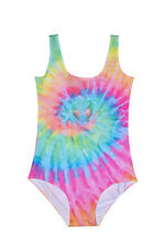 TIE DYE SWIMSUIT BODYSUIT WOMENS TUMBLR FASHION KAWAII RAINBOW GOTH COLOUR RAVE
